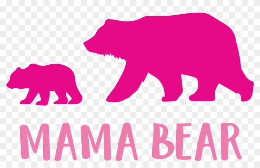 9e9e94ae Mama Bear Cutting Files Svg Dxf Pdf - Bear Silhouette - Free ...