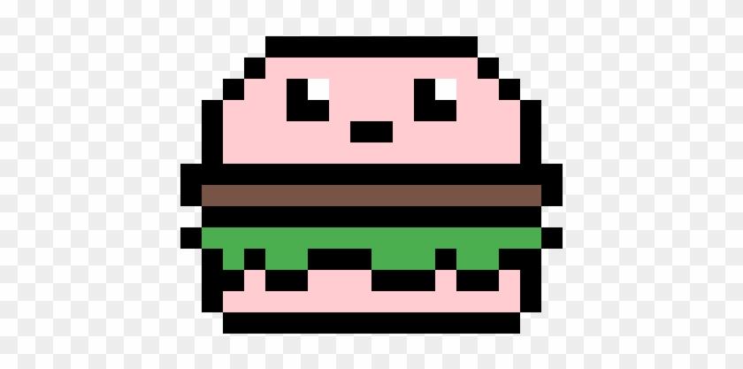 Booger Patty - Pixel Art Burger - Free Transparent PNG
