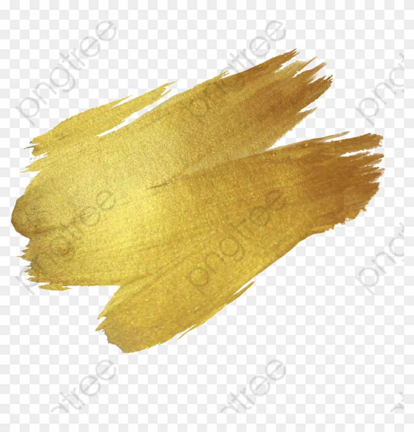 Gold Paint Png Clipart - Gold Paint Stroke Png #1684292