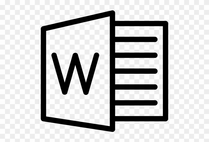 Document, Instrument, File, Single, Line-icon, Logos, - Microsoft Office Word Icon #1684723