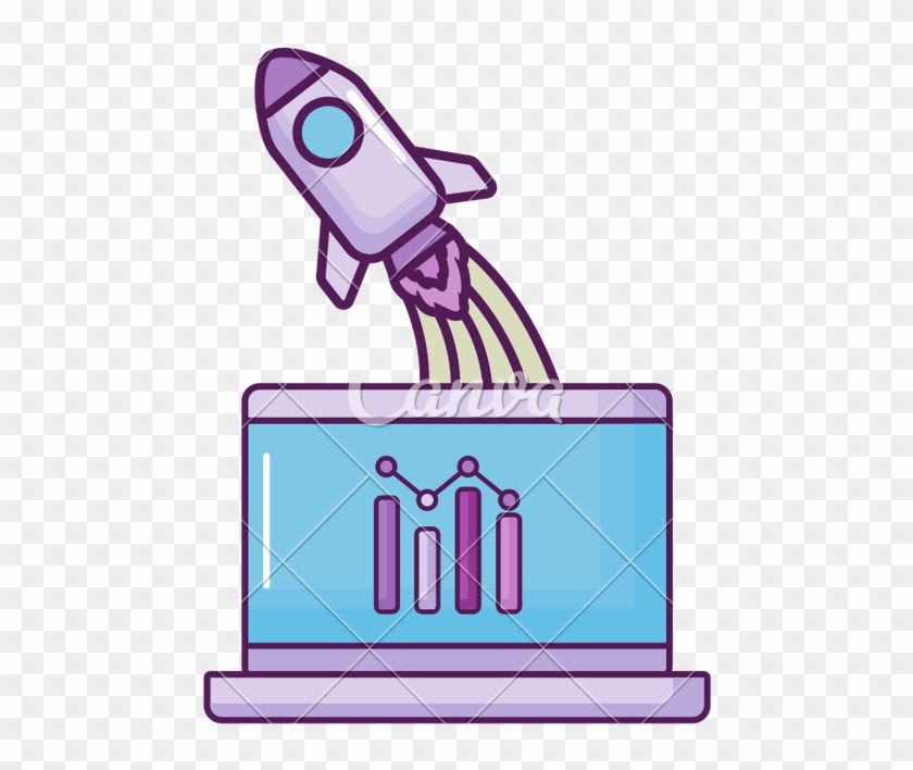 Laptop With Rocket Launcher And Statistics - Laptop With Rocket Launcher And Statistics #1685324
