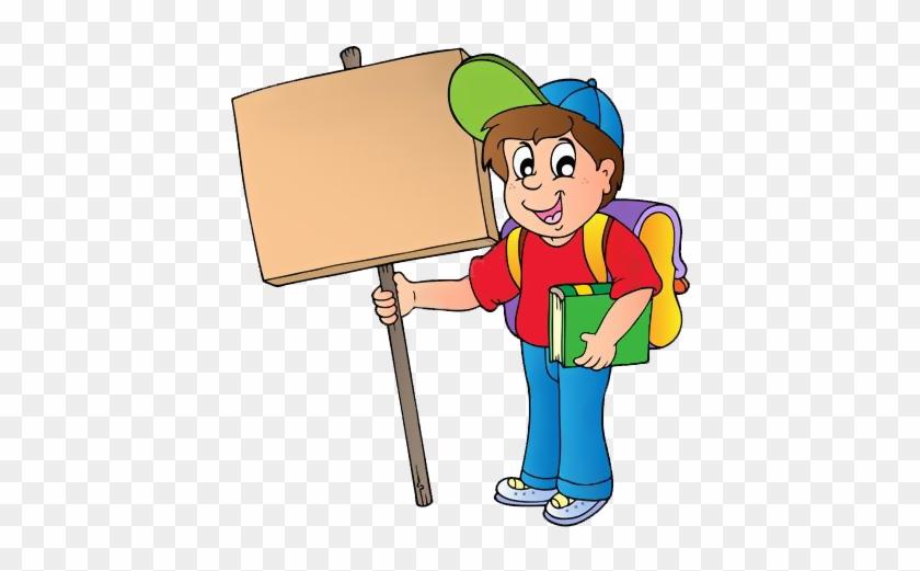 Clip Art - Boy With A Board #1685754