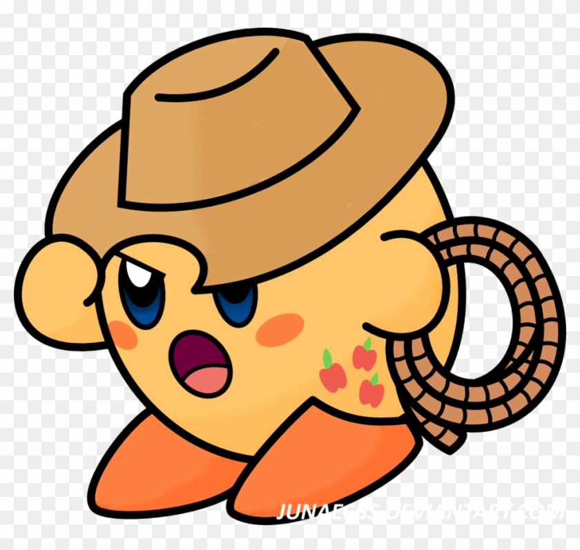 Apple Lasso Kirby By Junaecbs - Deviantart Kirby Whip #1686362