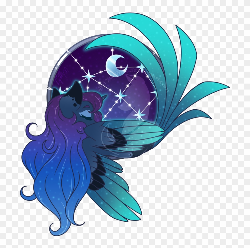 Fuyusfox, Colored Wings, Crescent Moon, Cute, Female, - Mlp Dream Ring #1686451