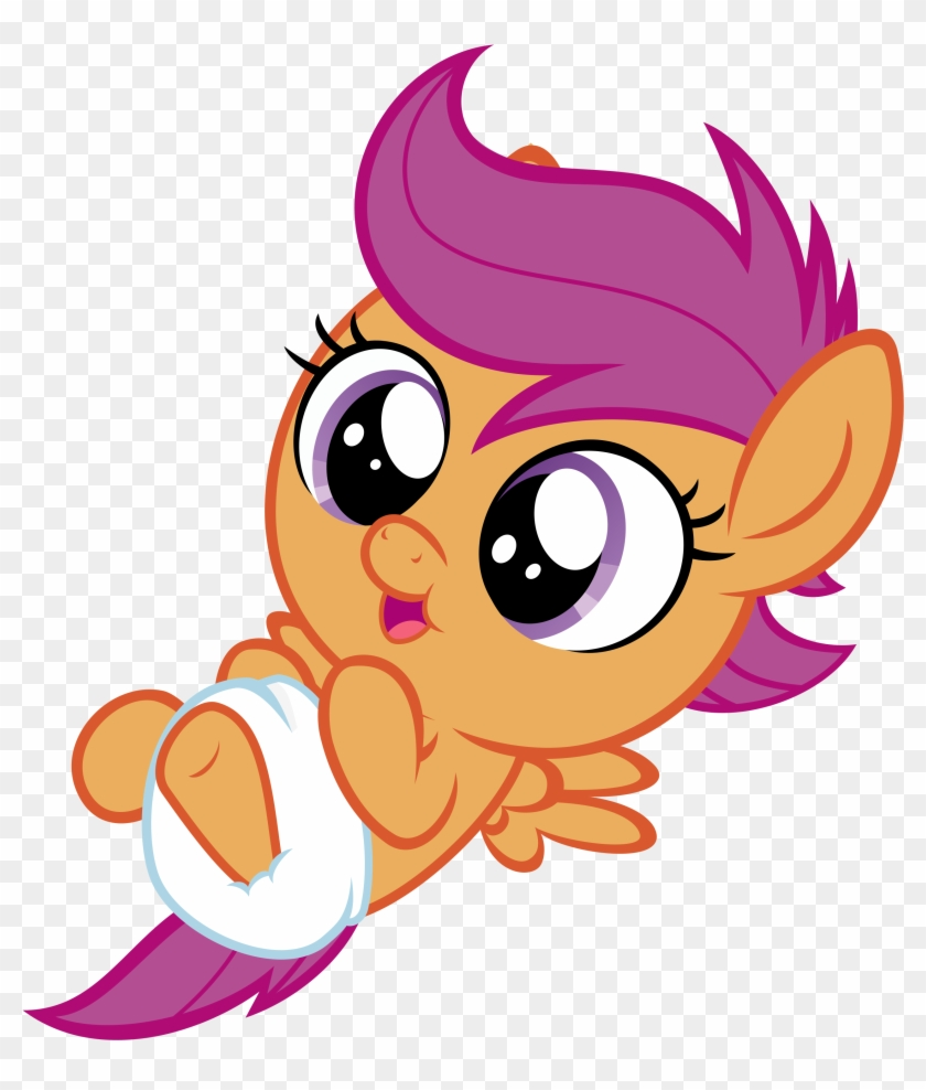 My Little Pony Friendship Is Magic Baby Scootaloo - Cute Baby My Little Pony #1688495