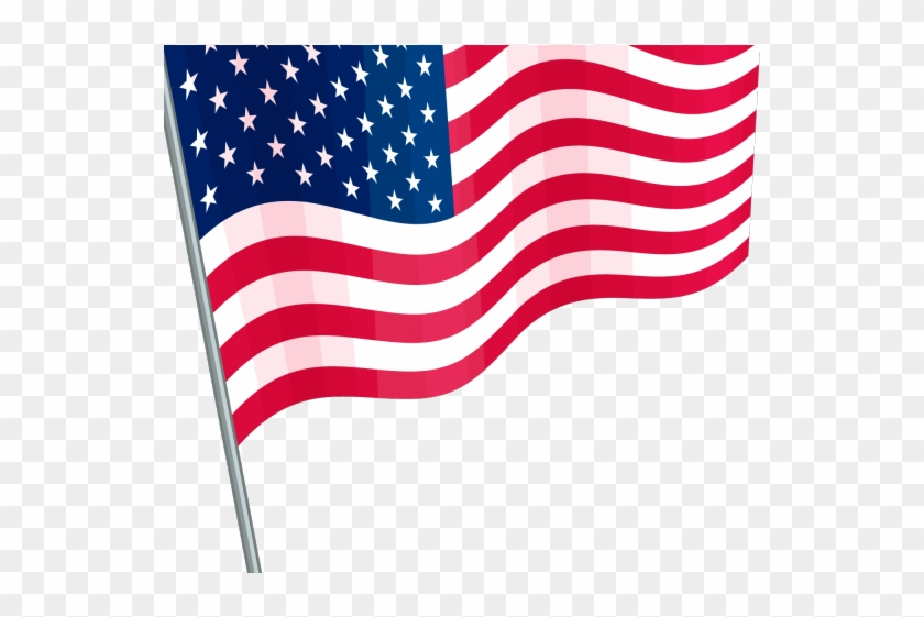 United States Clipart Vector - American Flag Clip Art #1689708