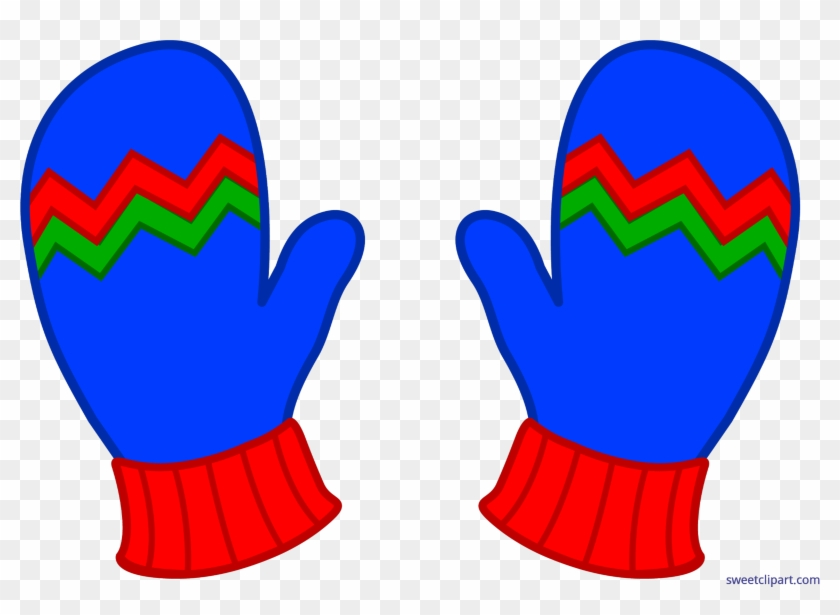 Blue Winter Mittens Art Sweet - Winter Mittens Clip Art #1690492