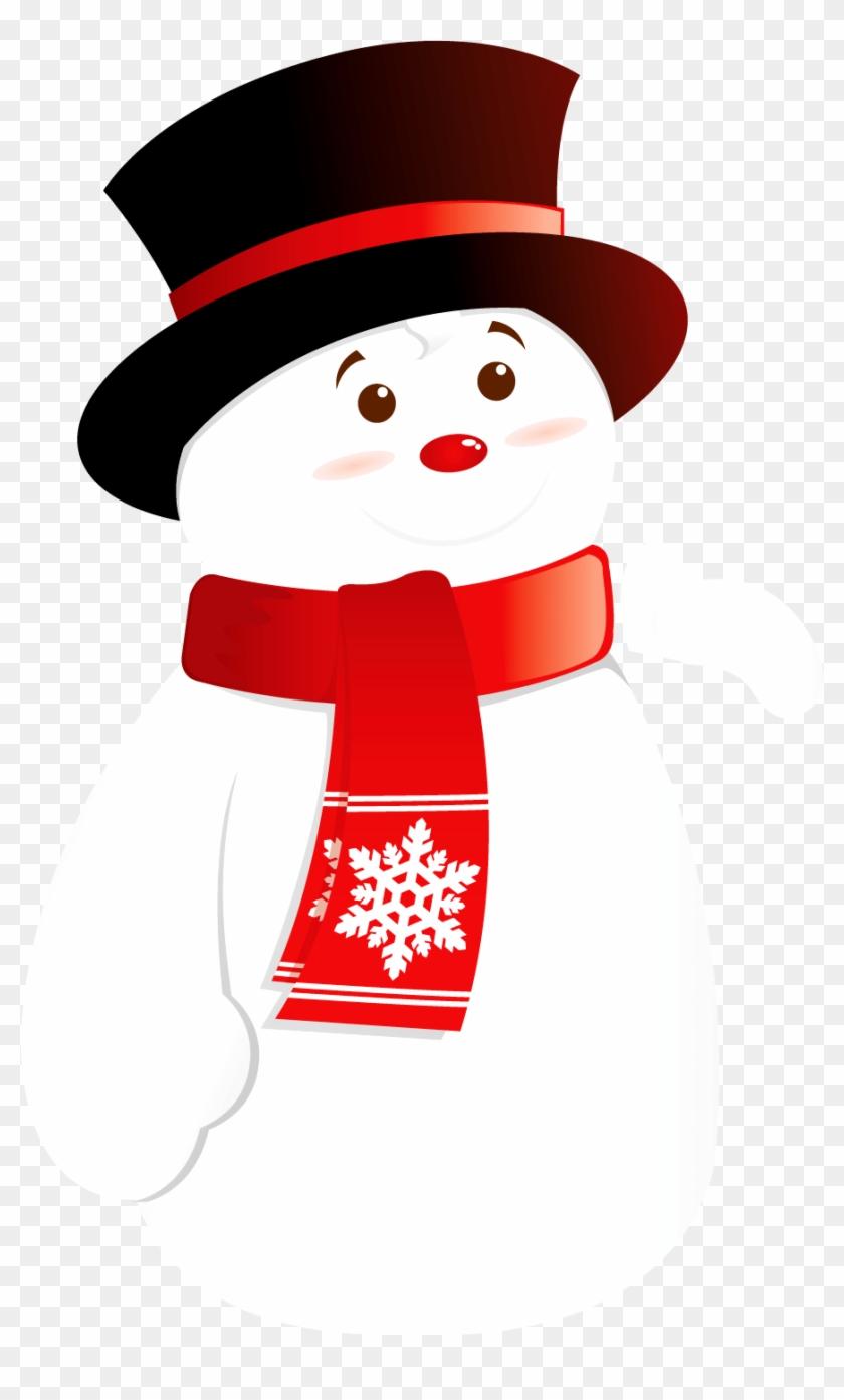 Transparent Christmas Clip Art Snowman - Snow Man Clip Art Transparent #1690781