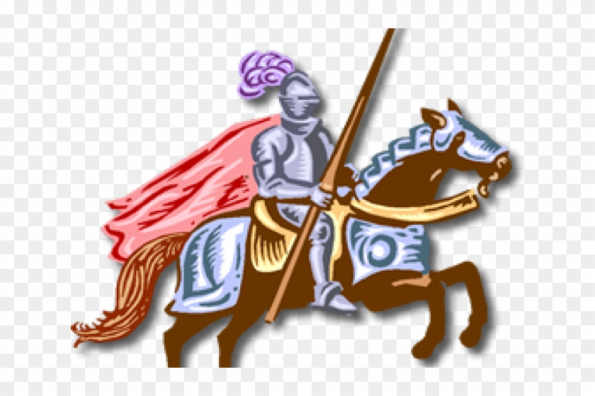 Maiden Clipart Knight In Shining Armor - Knight On Horse Clipart #1691381