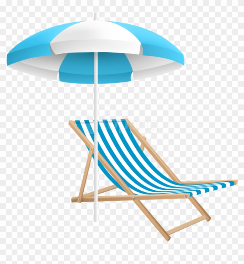 Free Png Download Beach Chair And Umbrella Png Clipart - Beach Chair And Umbrella Png #1691465