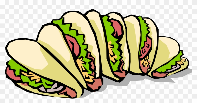 Vector Illustration Of Mexican Cuisine Taco Corn Or Street Taco Clip Art Free Transparent Png Clipart Images Download