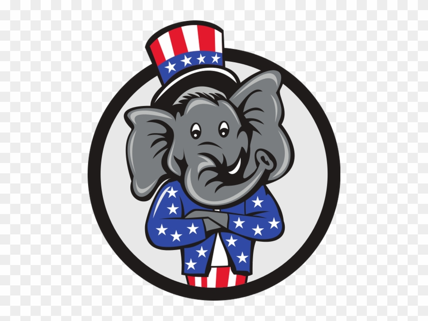 Republican Elephant - Cartoon Republican Elephant Drawing #1691717