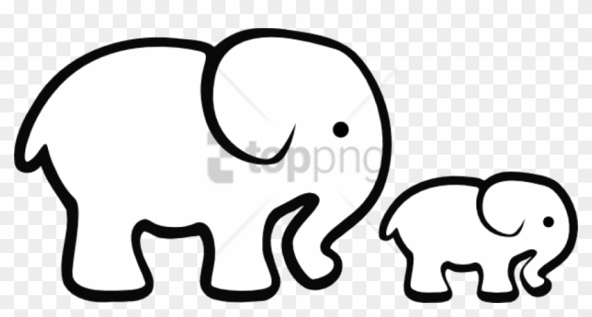 Free Png Download Elephant Png Images Background Png - Baby Shower Elephant Clip Art Black And White #1691721