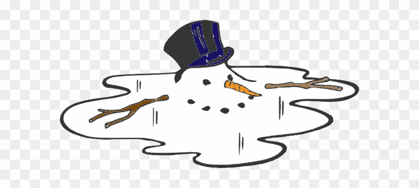 After Last Week's Ice Storm And Freezing Rain, The - Melting Snowman Clipart Black And White #1692299