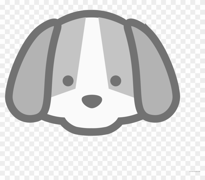 Dog Animal Free Black White Clipart Images Clipartblack Cute Dog Face Cartoon Free Transparent Png Clipart Images Download