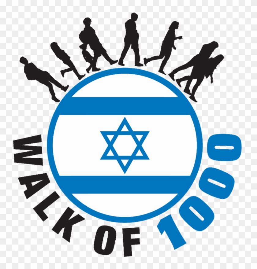The Walk For Israel, Part Of The Yom Haatztmaut Celebration, - Israel Flag #1694501