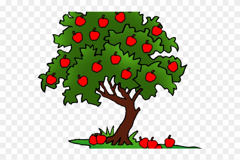 Spirit Clipart Fruit - Drawing Of A Apple Tree #1694555