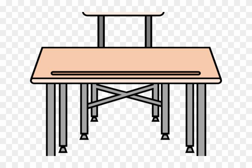 Desk Clipart Drawing School - School Desk Clipart #1694819