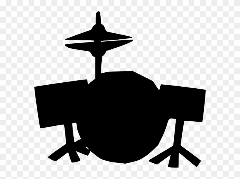 Drum Set Clipart Black And White #1696061