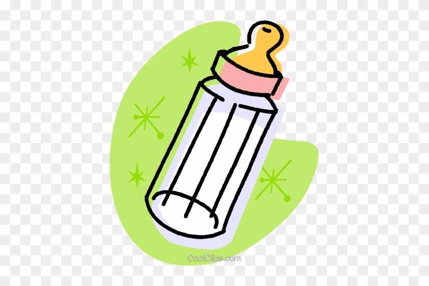 Baby Bottle Royalty Free Vector Clip Art Illustration - Baby Bottle Baby Toys Cartoon #1698242