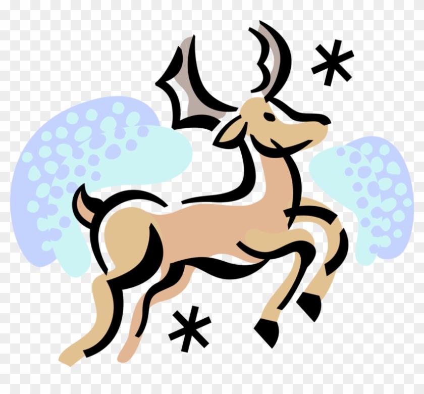 Vector Illustration Of Festive Season Christmas Reindeer - Christmas Day #1699436