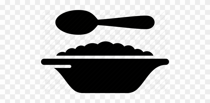Oatmeal Icon Clipart Breakfast Cereal Porridge - Cereal Bowl Icon #1699473