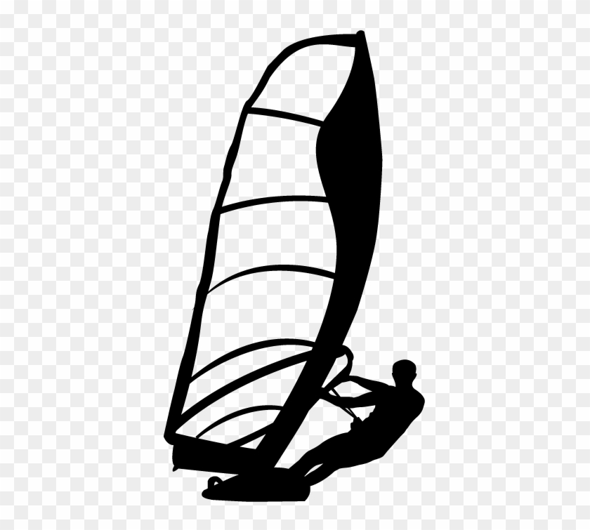 Wind Surfer Silhouette Sticker Dessin Planche A Voile Free Transparent Png Clipart Images Download