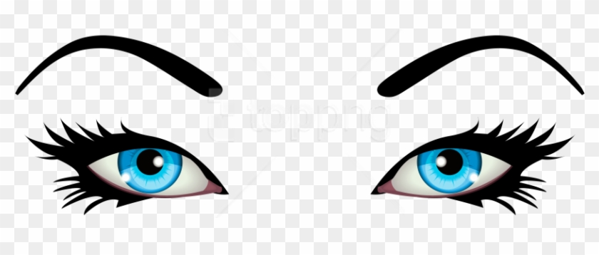 Free Png Download Blue Female Eyes Clipart Png Photo - Transparent Background Eyes Clipart #1700013