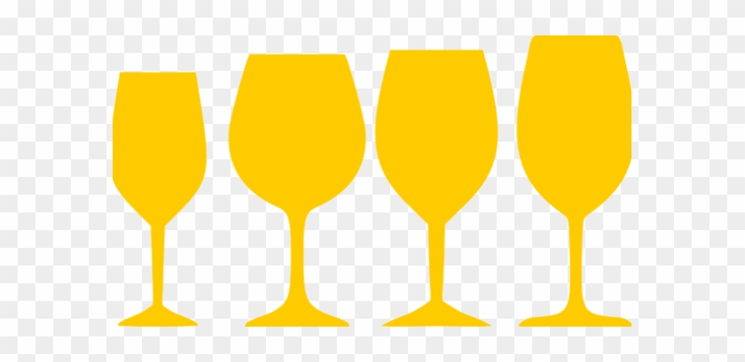 Orange Wine Glasses Contemporary Clip Art At Clker - Wine Glass Png Graphic #1700825