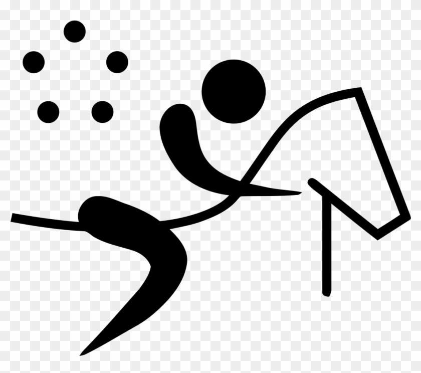 Olympic Sports Triathlon Pictogram Clip Art At Clker - Modern Pentathlon Olympic Logo #1701129