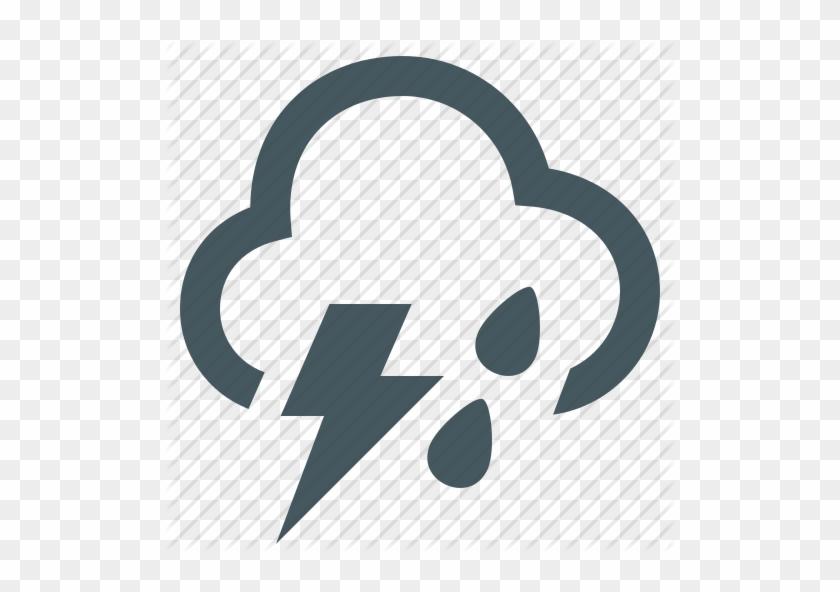 Icon Clipart Computer Icons Rain - Rain Thunder Icon #1701204