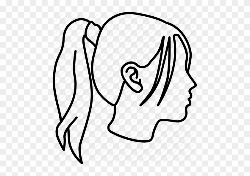 Girls Pony Ponytail Style - Curly Pixie Cut Drawing #1701240