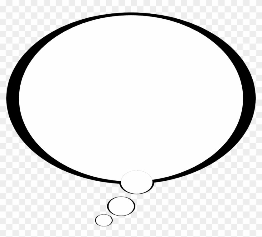 Cartoon Thought Bubbles Clip Art - Speech Bubble Black Background #1701623