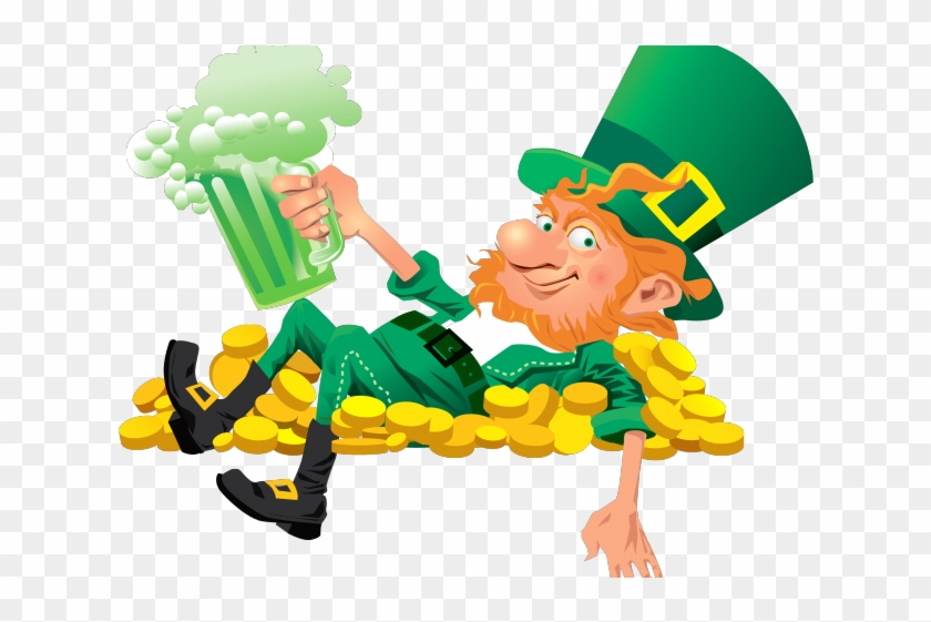 Lying Down Clipart Emoticon - St Patrick's Day Clip Art Leprechaun #1703021