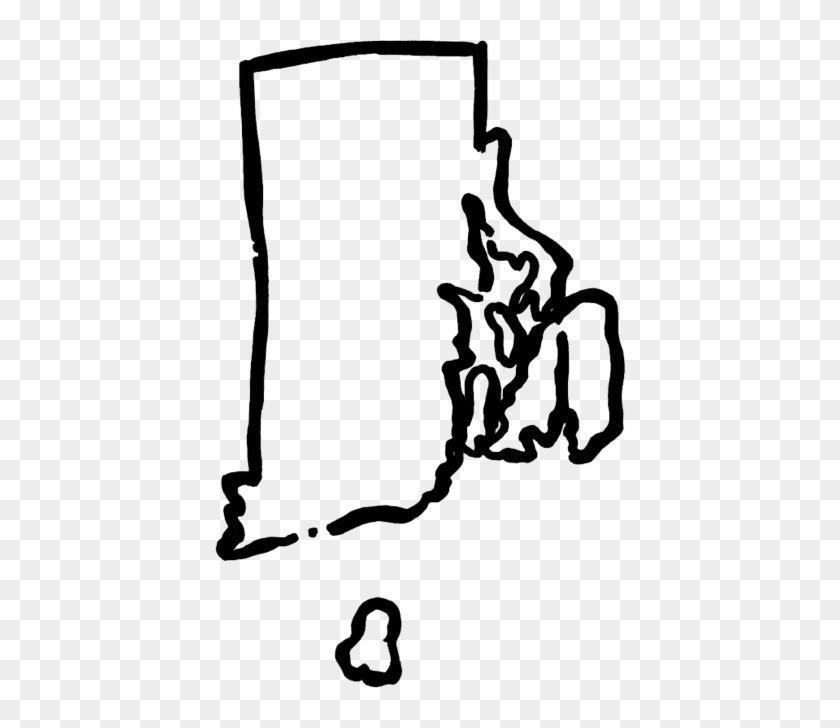 Clip Art Rhode Island - Rhode Island State Clip Art #1703023