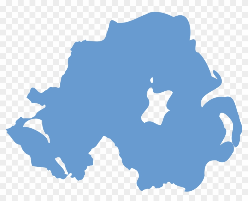 Map Of Ireland Vector.Northern Ireland Outline In Blue Northern Ireland Map Vector