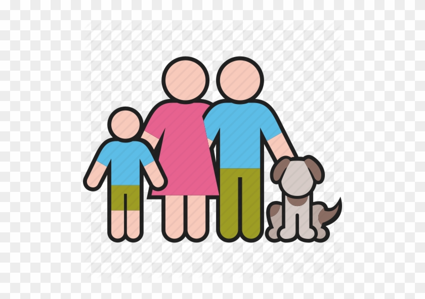 Color By Boris Farias Dog Father Mother - Mother Father Son And Dog #1703151