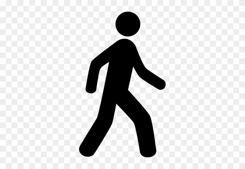 Vector Clip Art Of Walking Man Icon - Walking Man Clip Art #1704321