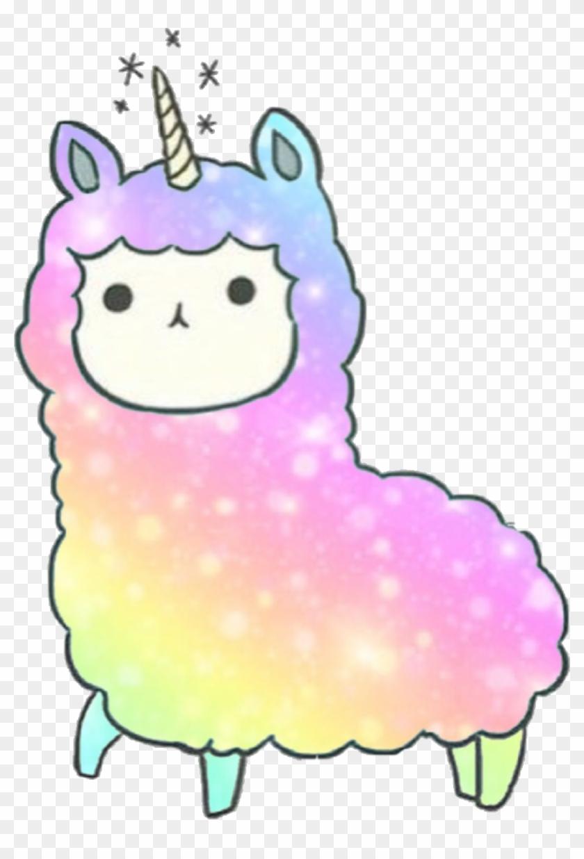 Kawaii Llama Llamacorn Dedicated To Kandygamergirl Cat