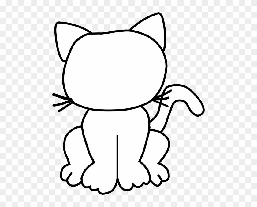 Cat Outline Clip Art - Sad Clip Art Cat #259594