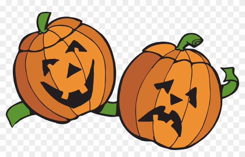 Jack O ' Lantern Pumpkins Clipart - Happy Pumpkin Sad Pumpkin #259778