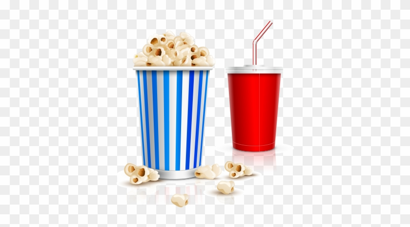 Cinema Popcorn And Drink Free Vector And Png - Popcorn And Drink Vector #260007