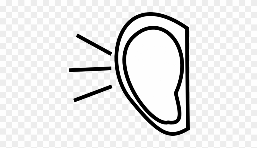 Right Ear Clip Art At Clker Vector Clip Art - Listening Clipart Black And White #260079