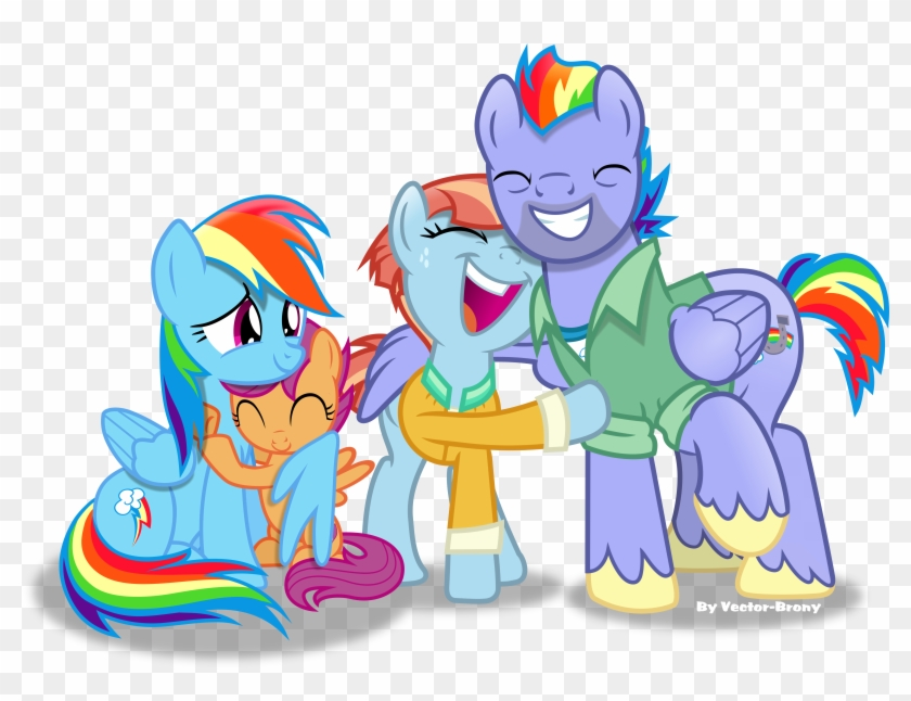 Dashie's Family By Vector-brony - Pony Little My Butter Pear #260662