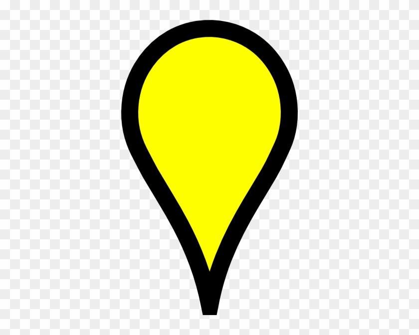 Google Map Pin - Yellow Google Map Pin #260844
