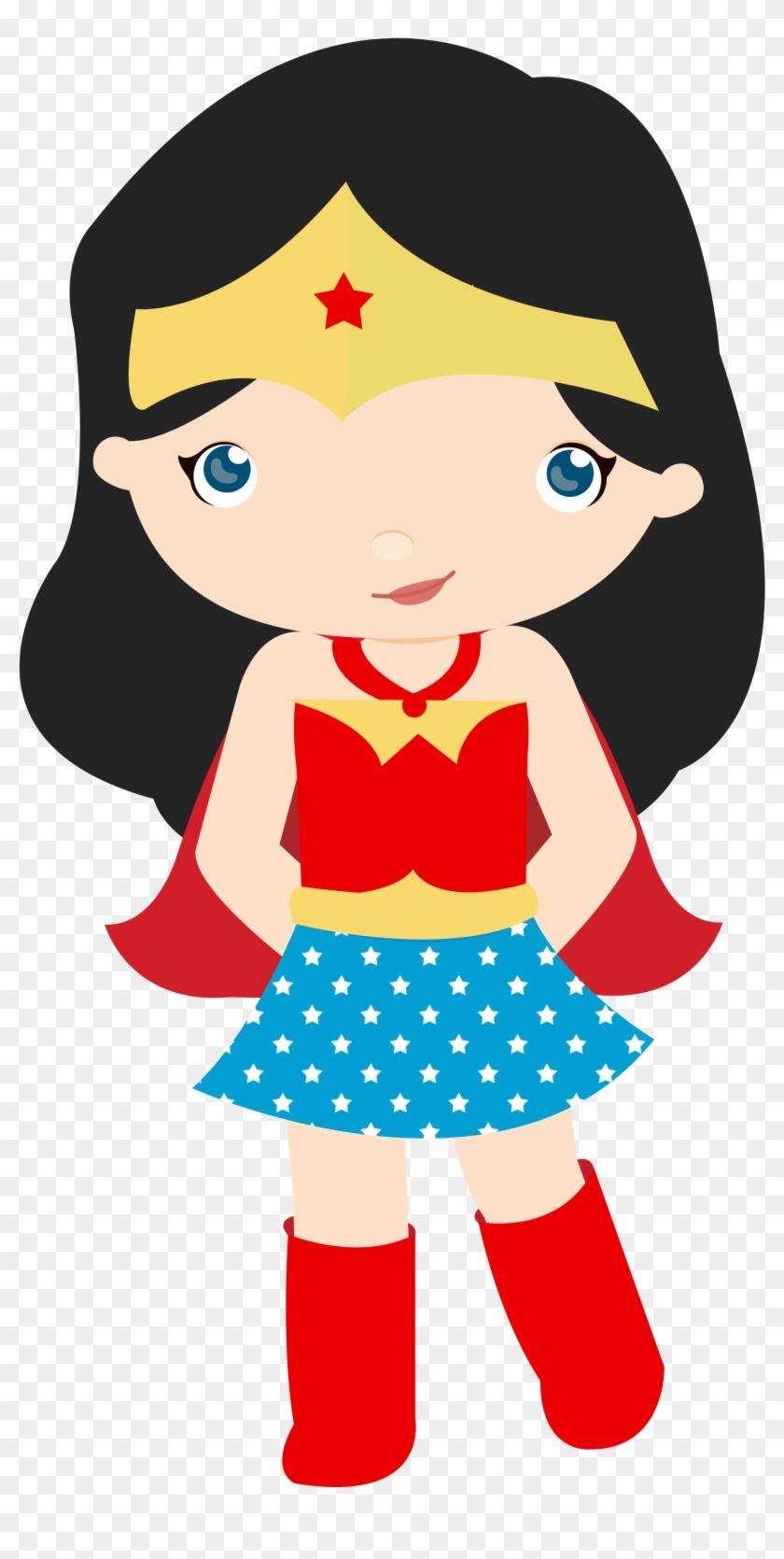 Aventuras De Una Super Mama - Girl Superhero Cupcake Toppers #260955