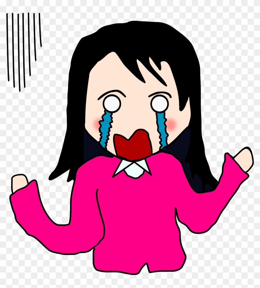 Crying Cartoon Woman #261050