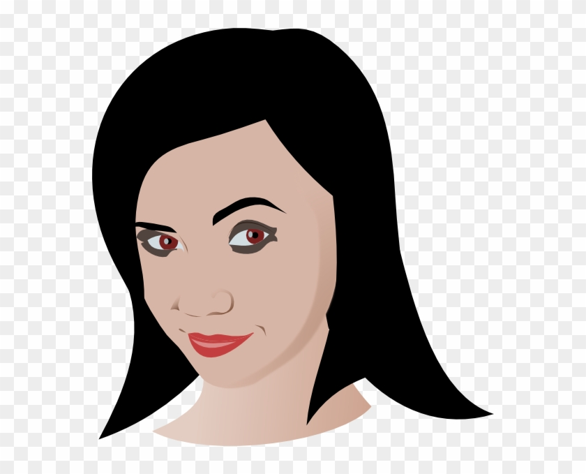 Girl With Brown Eyes Clipart #261103