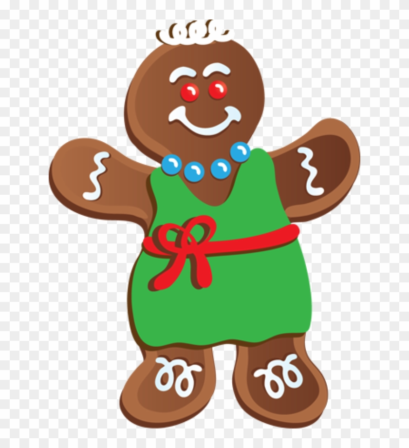 Clip Art Gingerbread Girl #261601