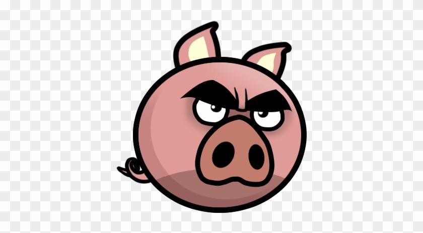 Angry Evil Pig Mascot Evil Pig Head Cartoon Free Transparent Png Clipart Images Download
